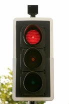 Description=19th September 2006. Pic: Paul Rogers A traffic signal showing red.